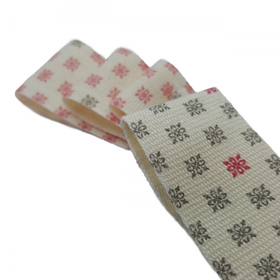 printed cotton ribbon